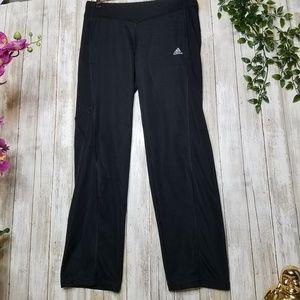 Adidas womens black small clima zipper yoga pants